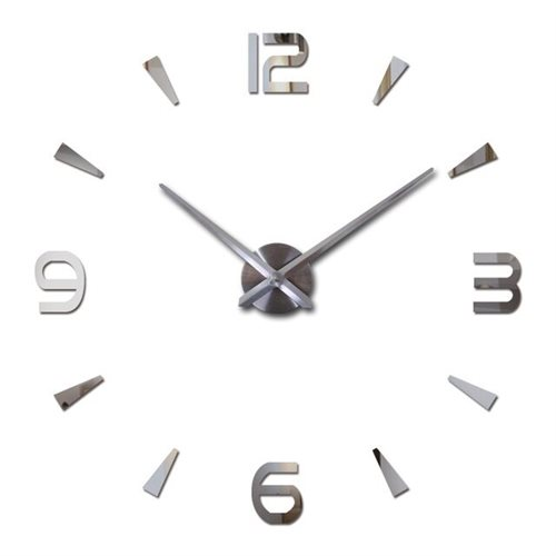 Large wall clock silver